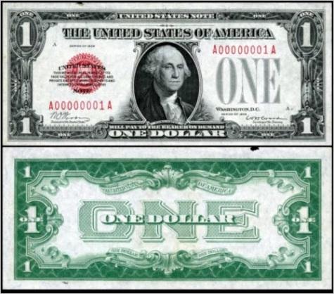 value of old 1 dollar bills