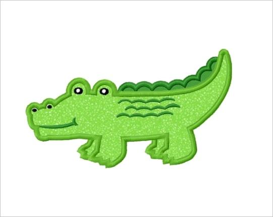 alligator applique machine embroidery