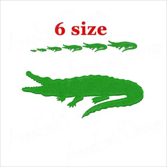 alligator embroidery design alligator