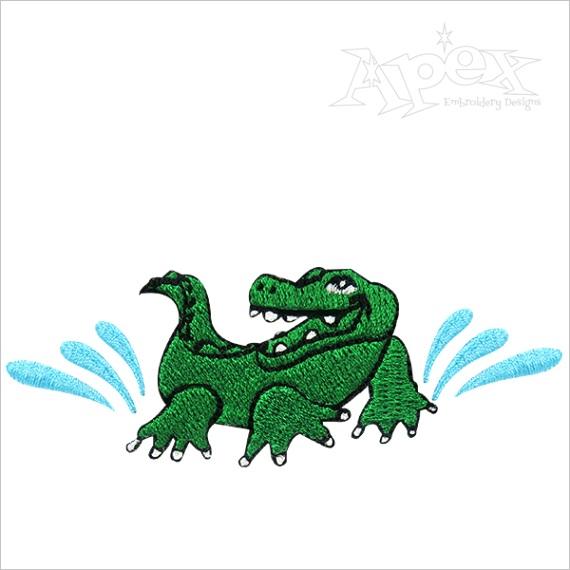 alligator applique embroidery design 0