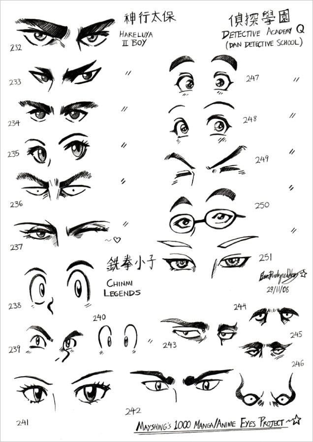 manga eyes maleml