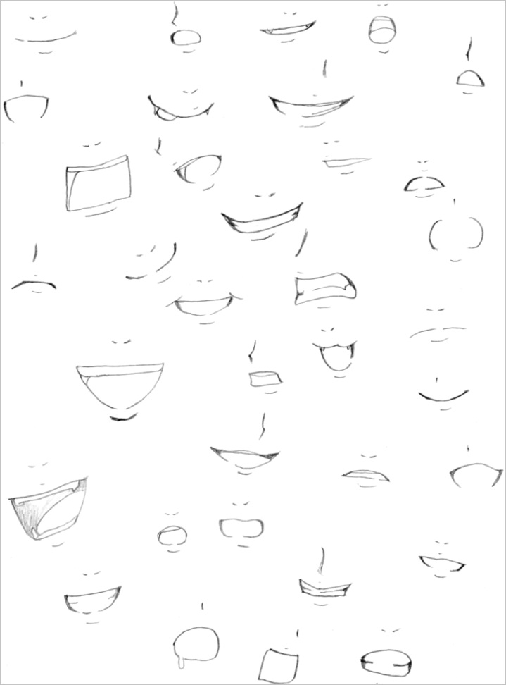 mouth expressions drawing animeml