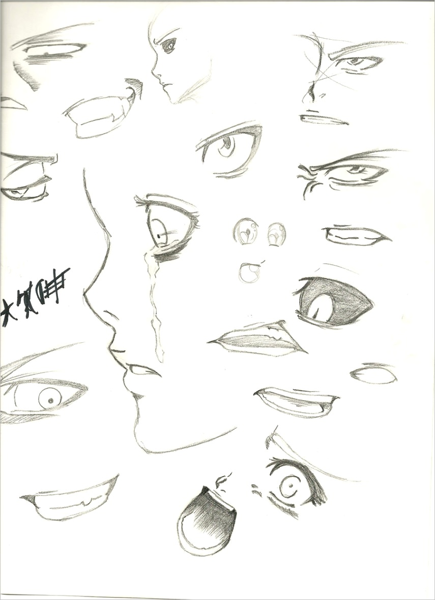 anime drawings mouthml