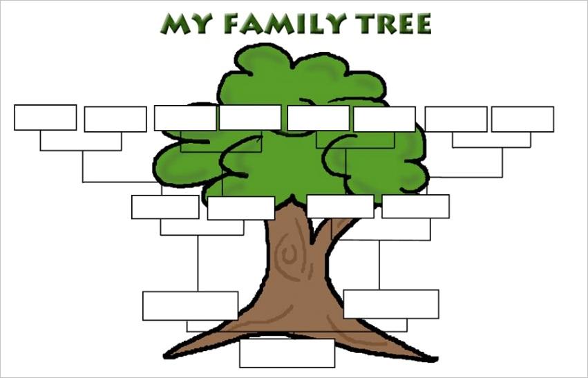 blank family tree for kids