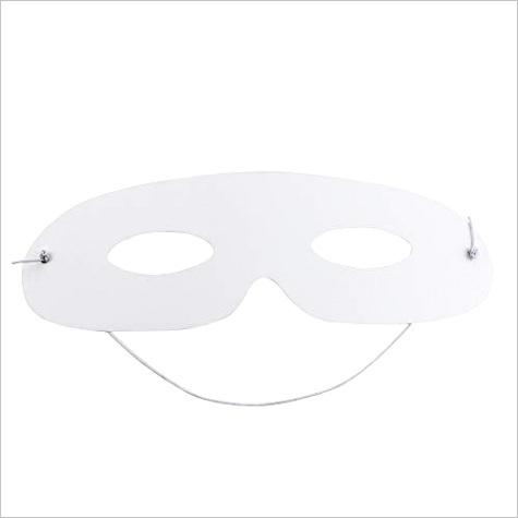 wpxmer 40 pack white paper eye masks diy blank plain masquerade mask for costume party
