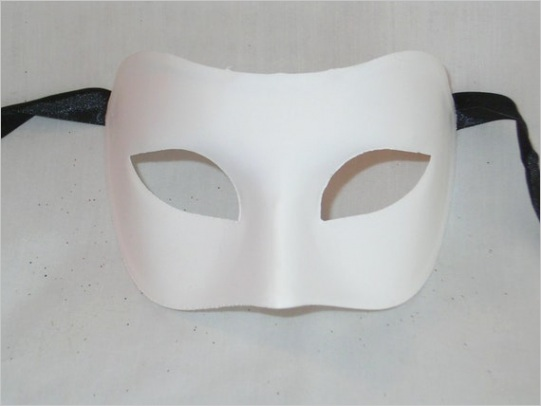 blank masquerade mask for decorating