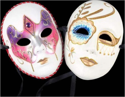 white mask12pcs halloween full face mask blank diy mask dance cosplay party plain masquerade paper mask to decorate