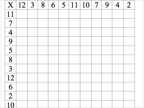 maths all levels times tables grids including random grids
