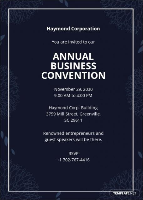business event invitation