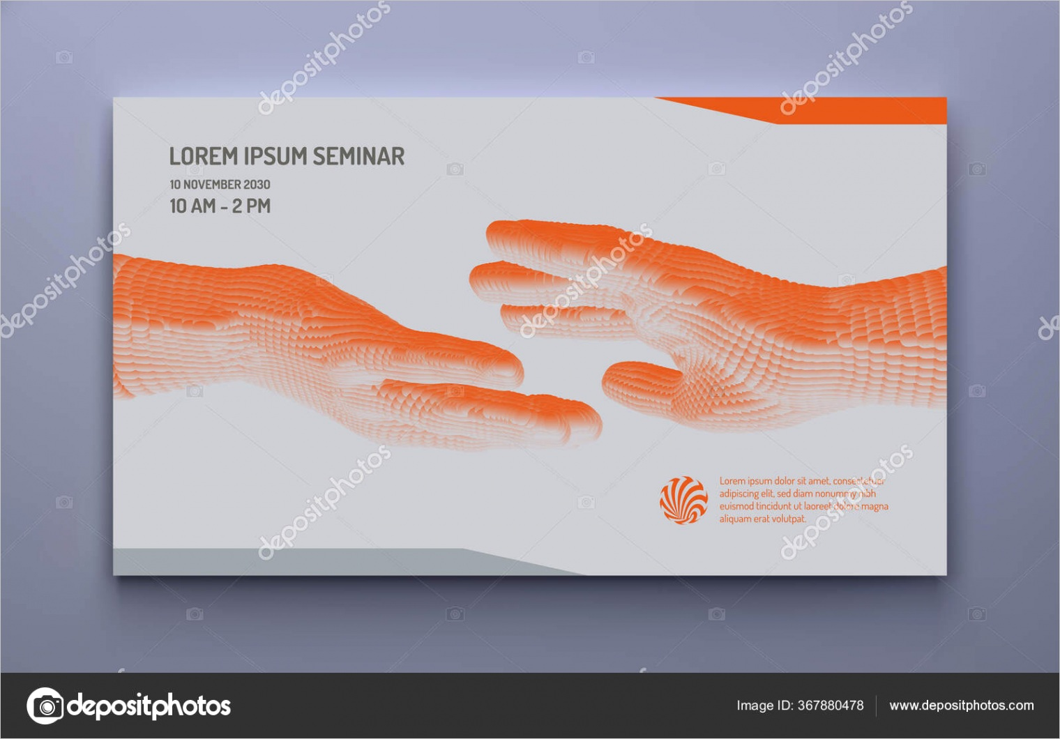 stock illustration business event invitation template handsml