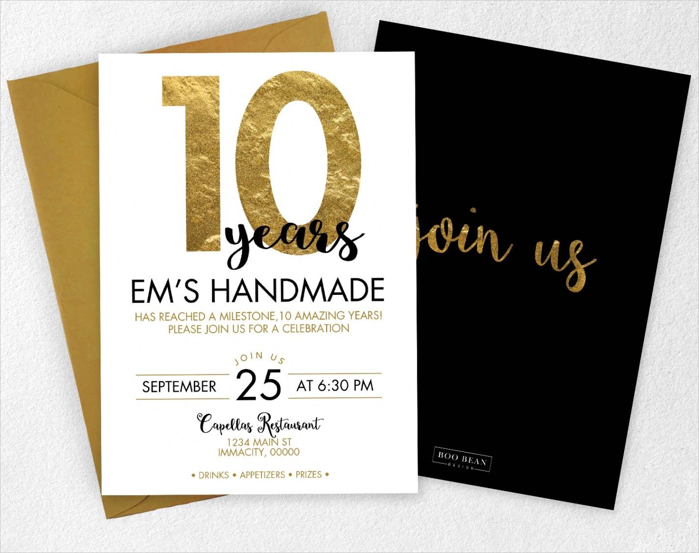 business event invitation gold