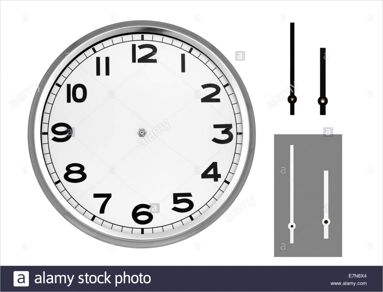 stock photo clock face with hands ml