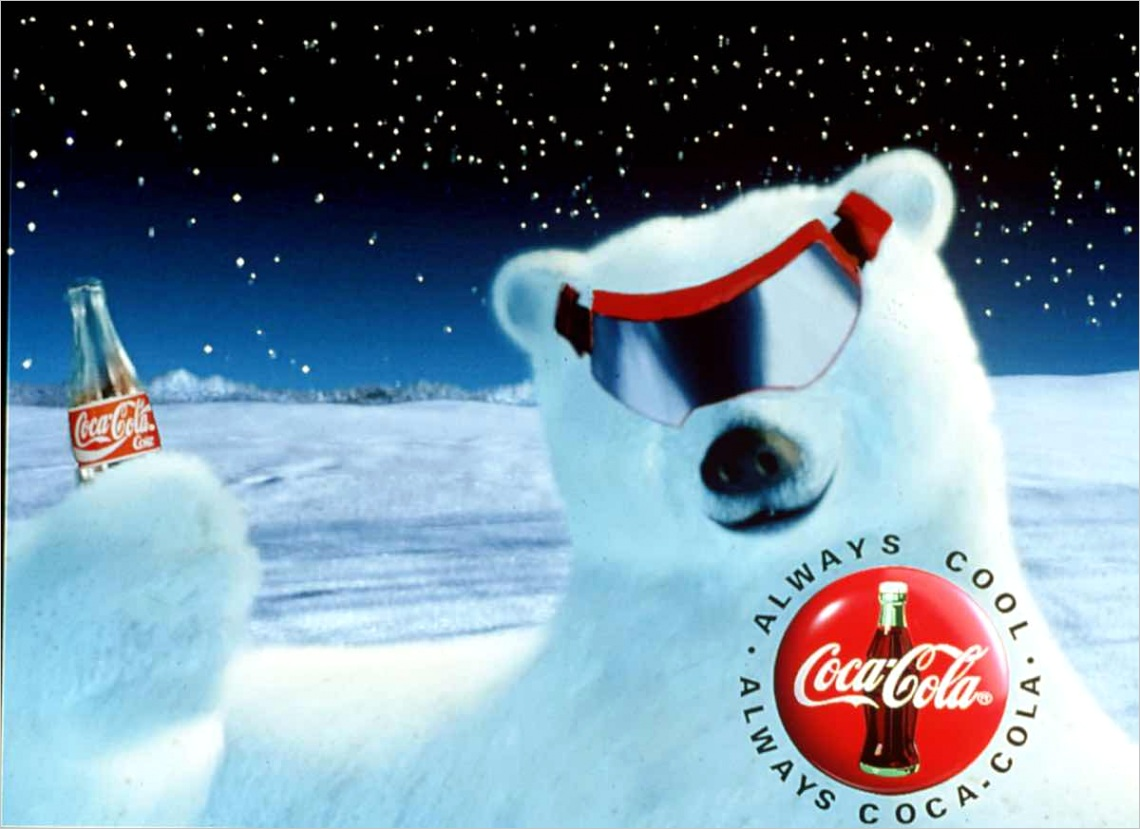 coca cola polar bears in ads during supe