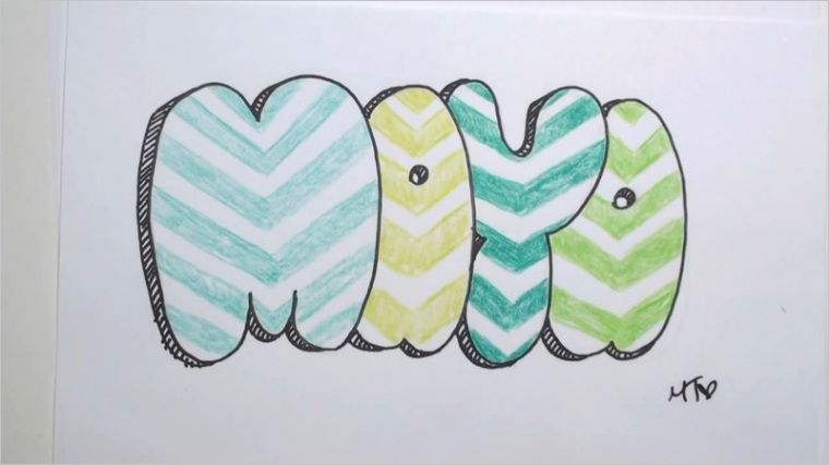 drawing graffiti bubble letters ijkl