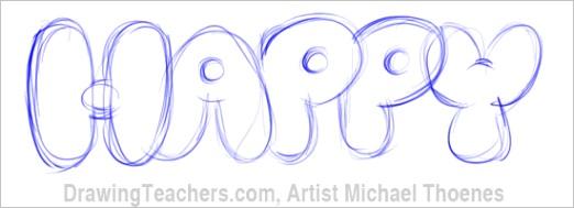 bubble letters happyml