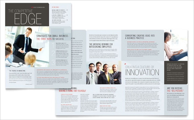 Corporate Business Newsletter Templates PN Dx