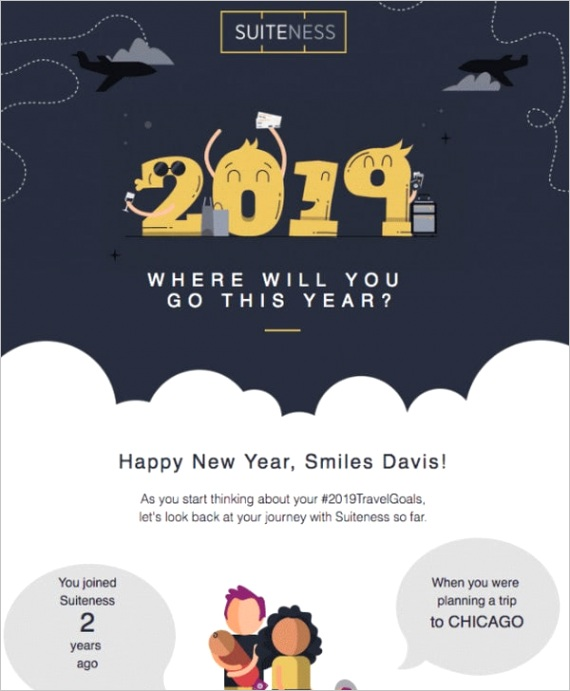 new year email newsletters