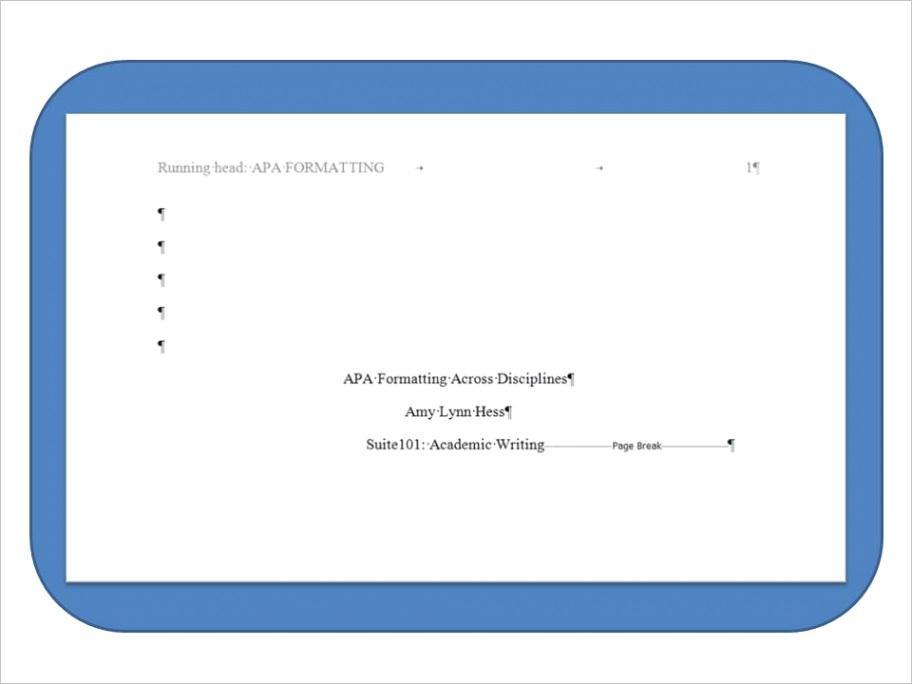 how to create apa title page usingml