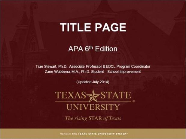 edcl txstate module title page apa style 6th ed