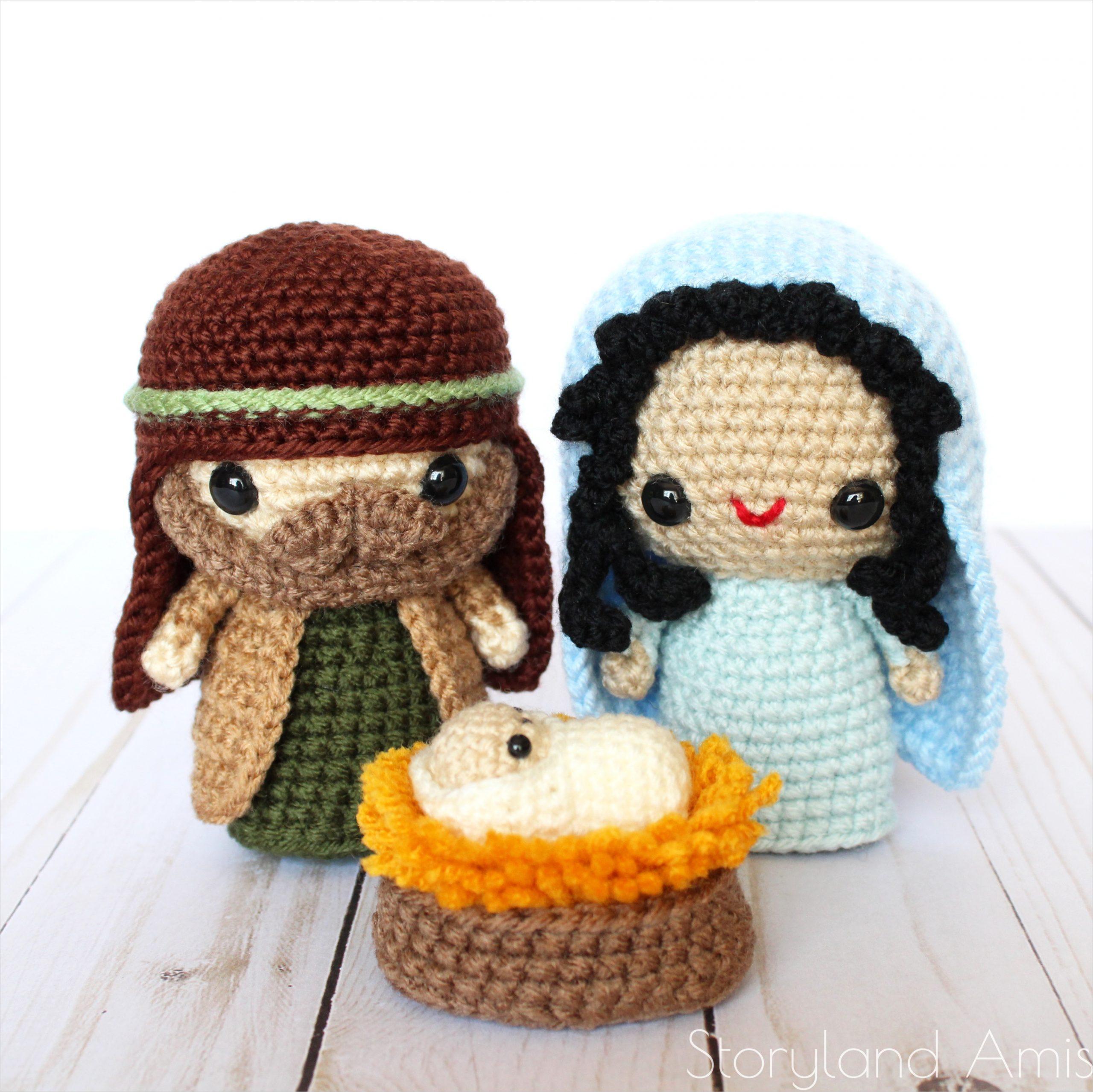 pattern plete amigurumi nativity set with mary joseph baby jesus shepherds sheep