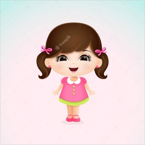 little cute girl m