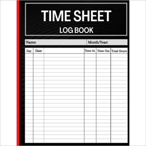 1GDCVY8K4 timesheet log book daily timesheet log book to record time work hours log employee time log in and out sheet time sheet work time record