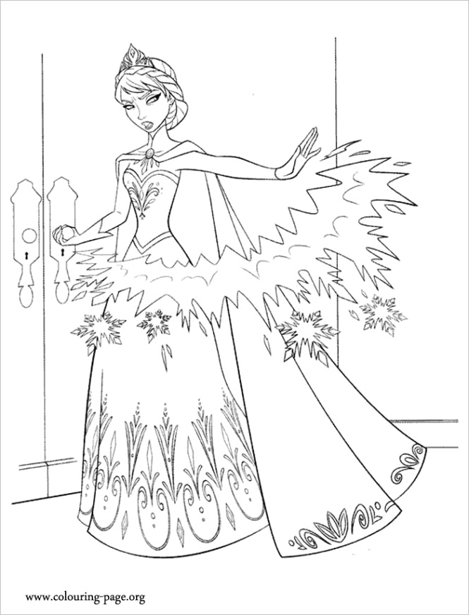 frozen coloring pagesml