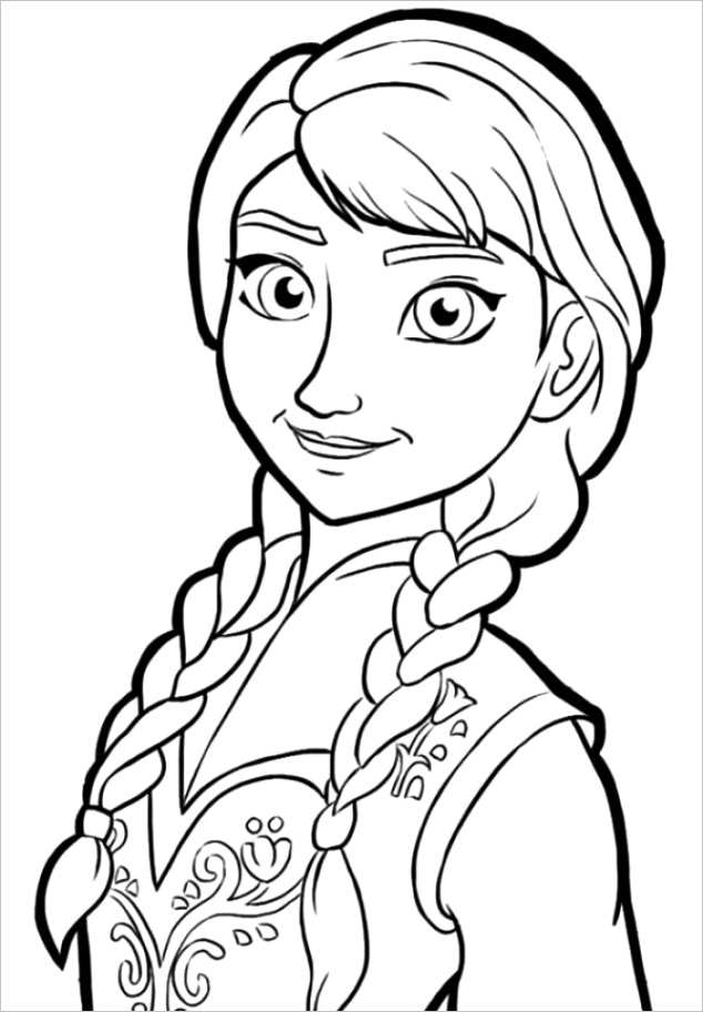 disney frozen coloring pages princess anna