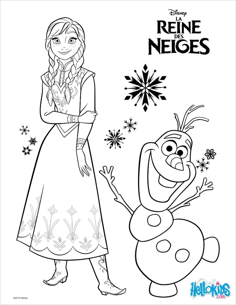 frozen anna and olaf