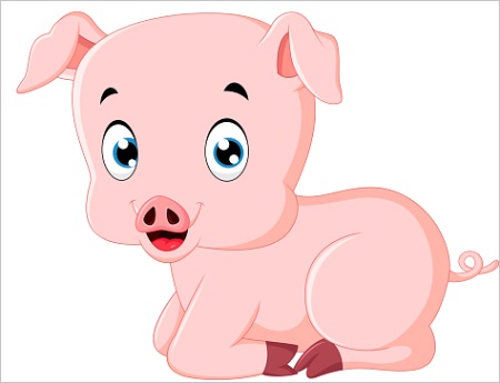 how to draw pig faceml