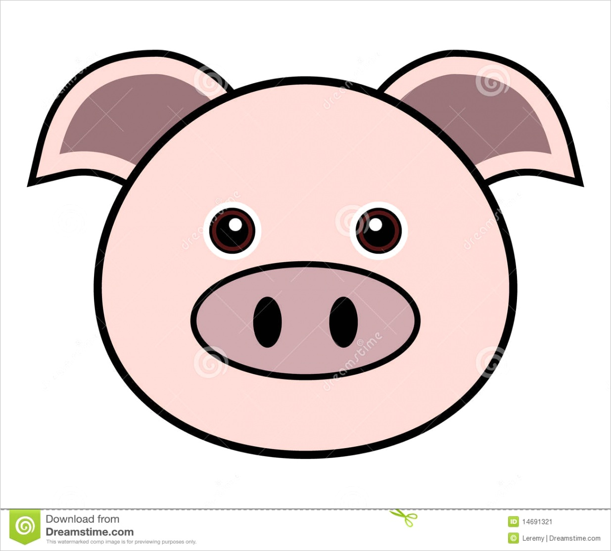 stock image cute pig vector image