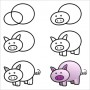 Draw A Pig Face