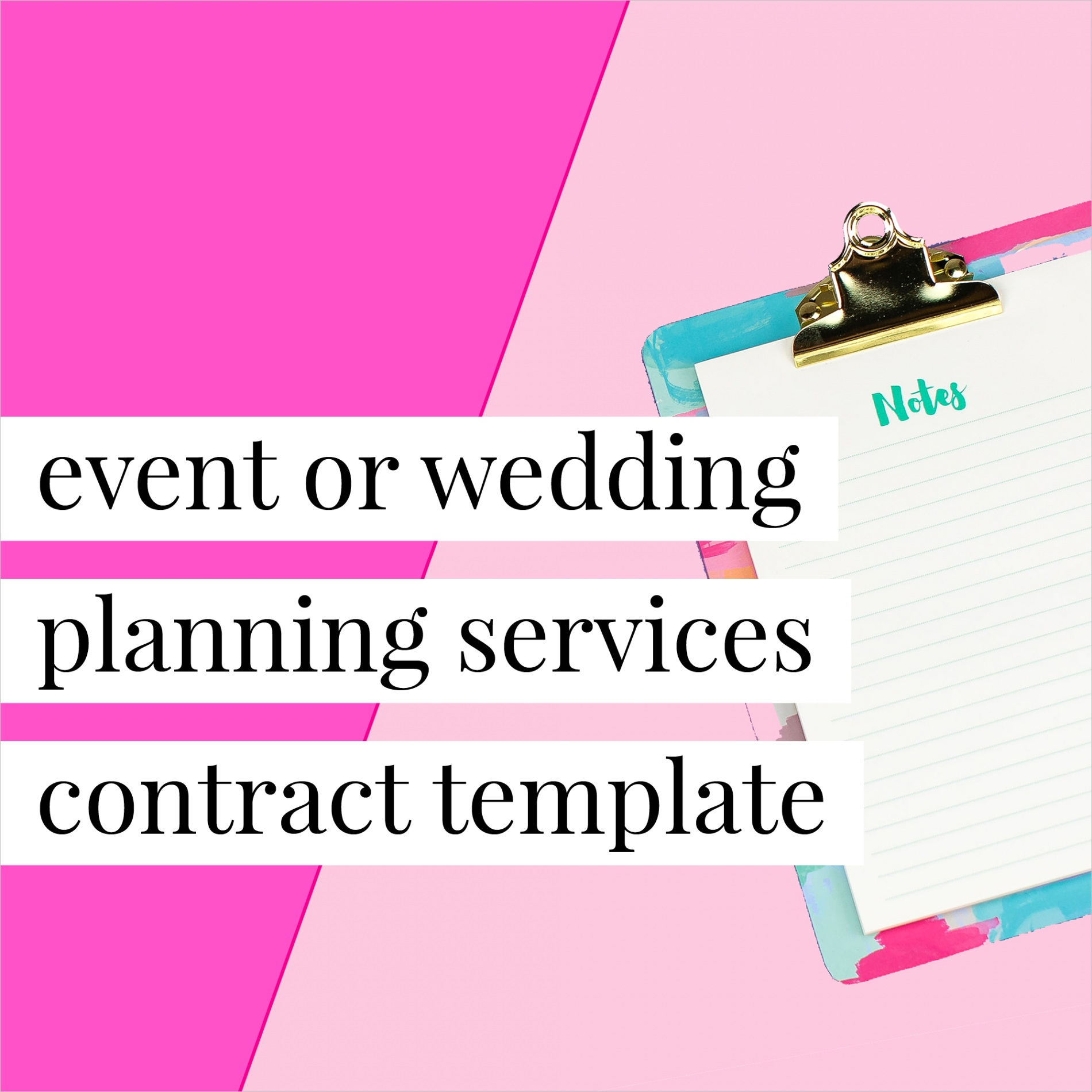 event or wedding planning services contract template
