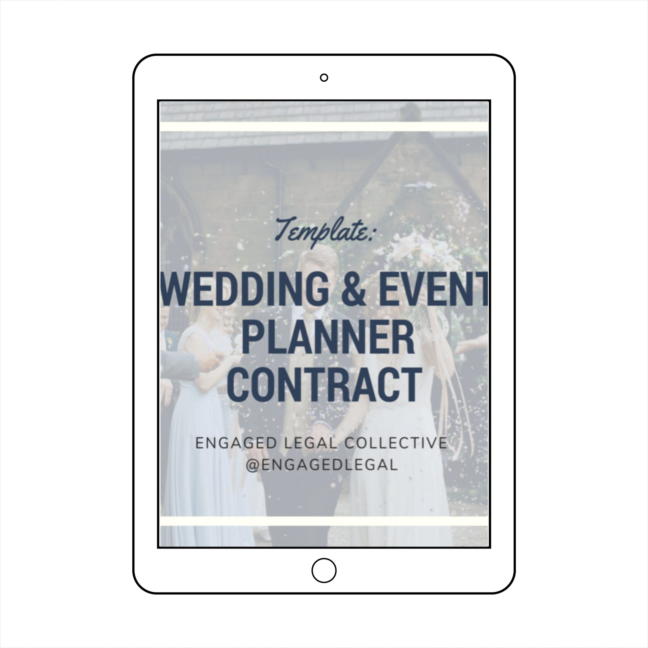 wedding event planner contract