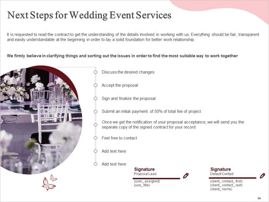 wedding event planning proposal powerpoint presentation slidesml