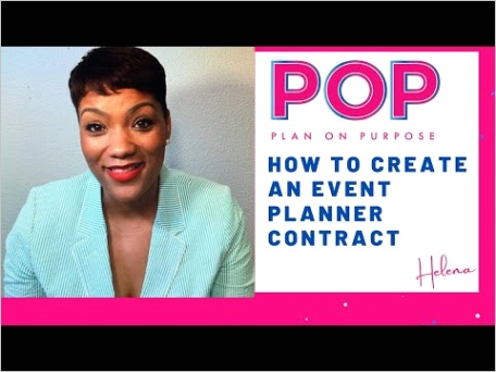 birthday party contract template