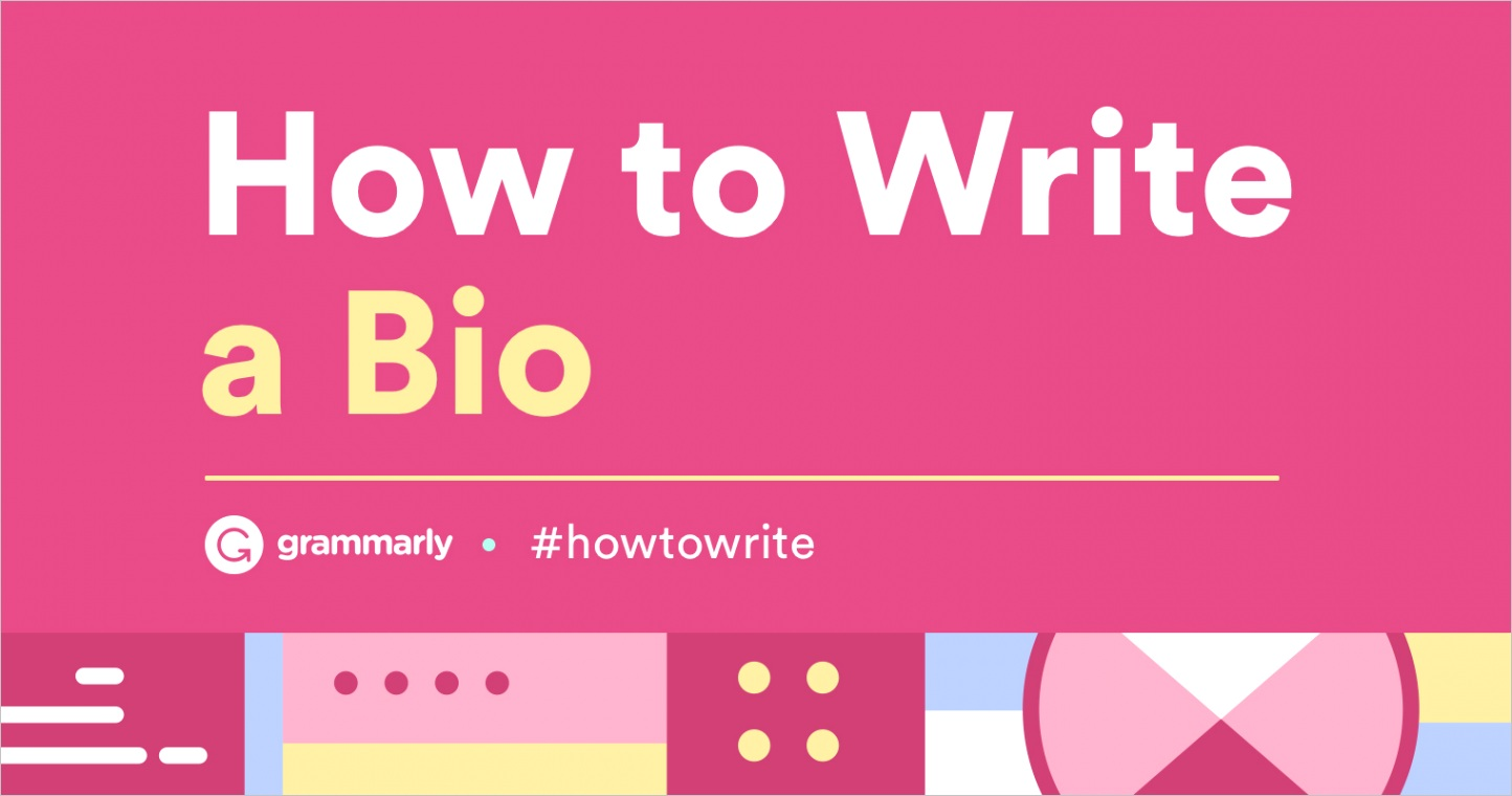 how to write bio