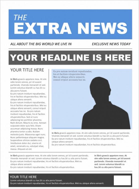 newspaper template pack word school