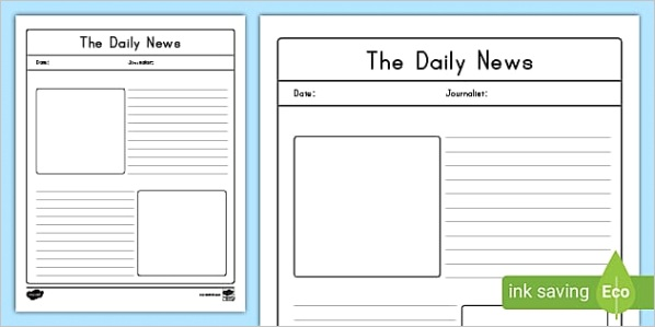 blank old newspaper template us e 598