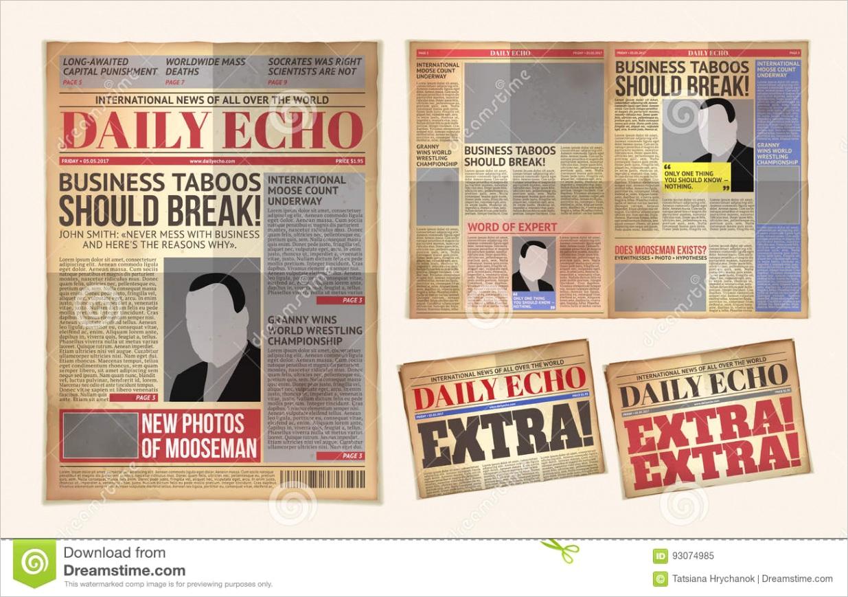 old newspaper templateml
