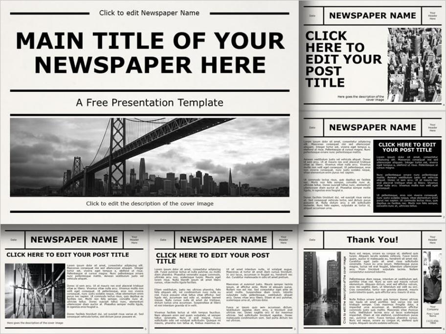 newspaper template powerpoint google slides
