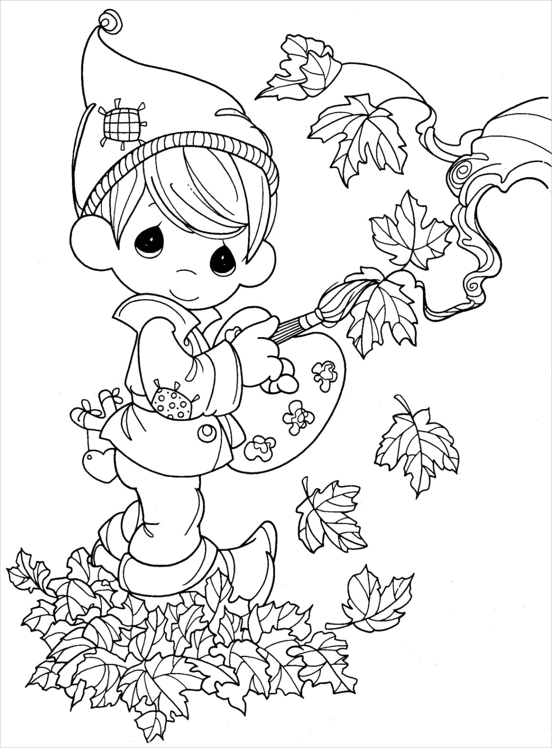 fall coloring pagesml