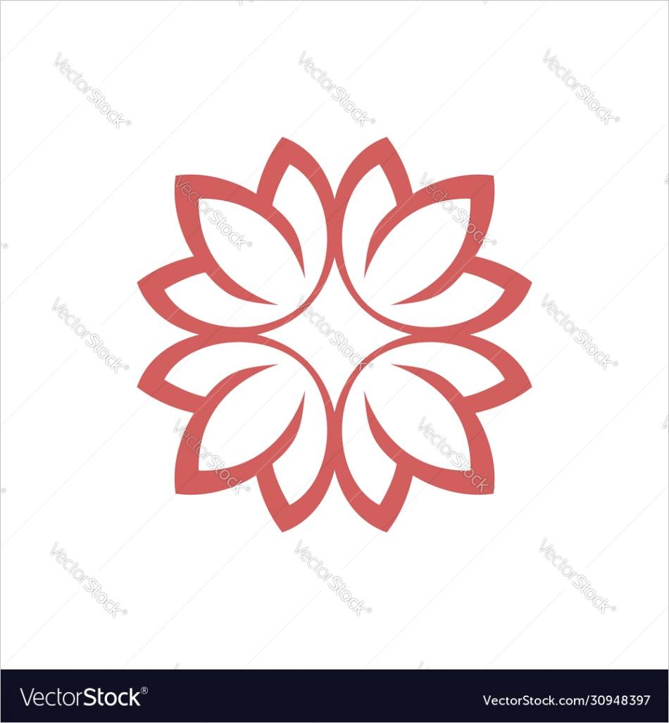 blossom flower petals logo template design vector