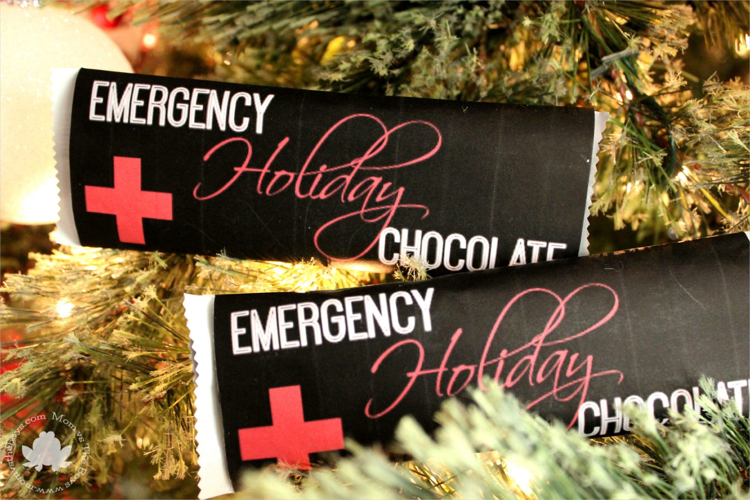emergency holiday chocolate