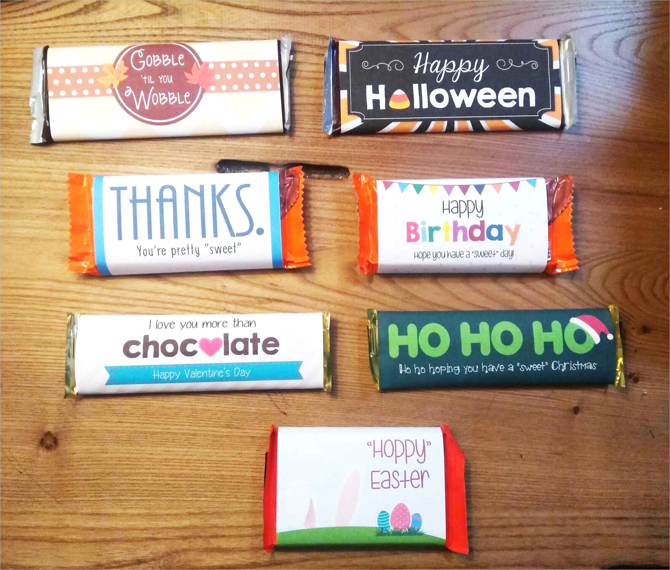 free candy bar wrappers every occasion