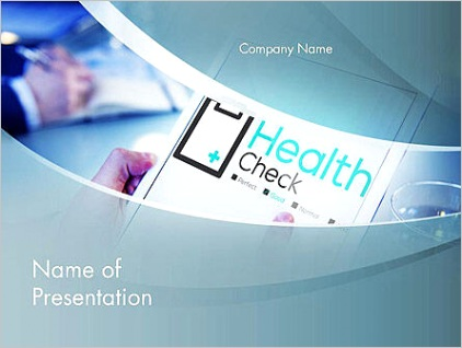 health check diagnosis concept powerpoint template