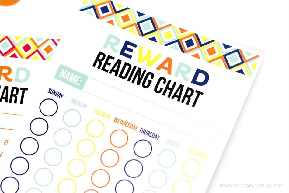 free printable reward reading chart