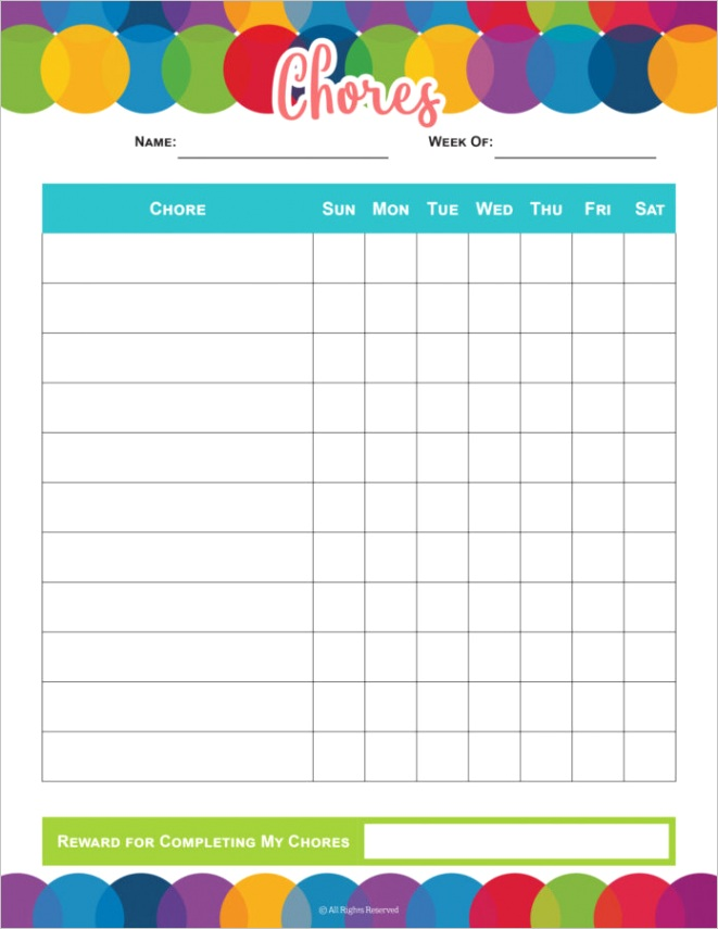 top chore chart free printables to instantly