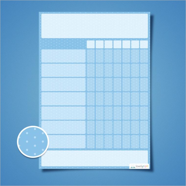 kids reward chart template printable reward chart polka dots design single reward