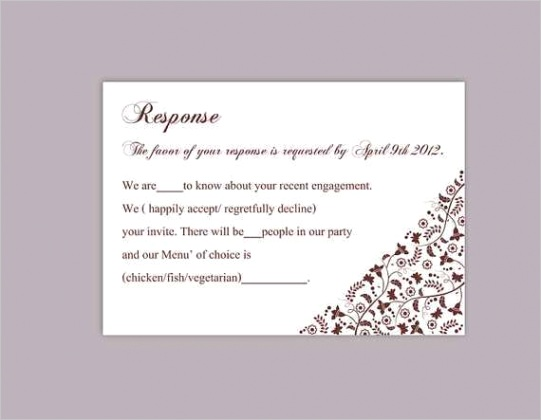 50 free rsvp card template for word in word for rsvp card template for word